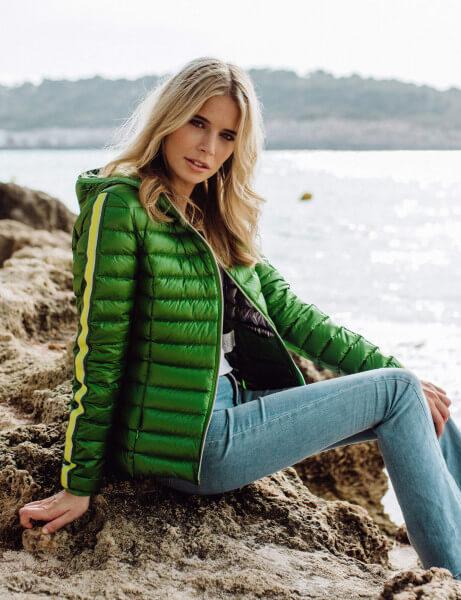 SARA • Daunenjacke • Garden Green Stripe