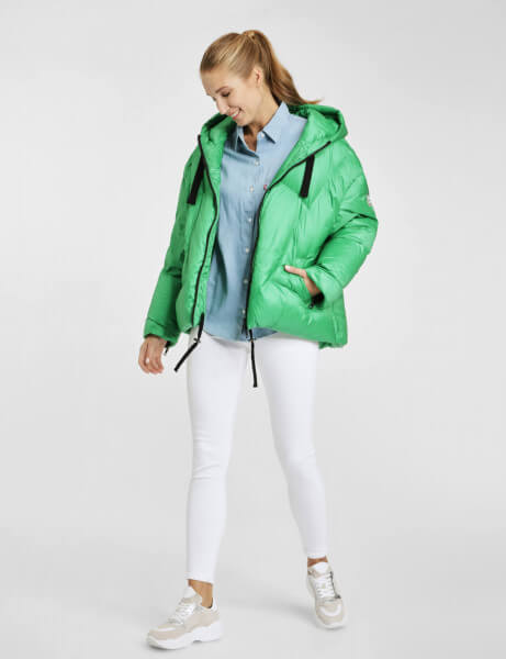 ANDREA • Oversize Daunenjacke • Smaragd